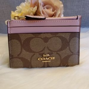NWT COACH MINI SKINNY ID CARD CASE IN DAIS…